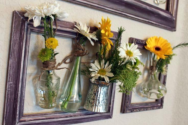Картины из живых цветов